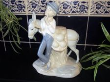 COLLECTABLE MIQUEL REQUENA PASTELS FIGURINE WATERMELON BOY & DONKEY TLC